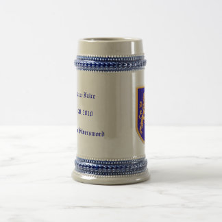 Lion on Blue Shield Coffee Mugs