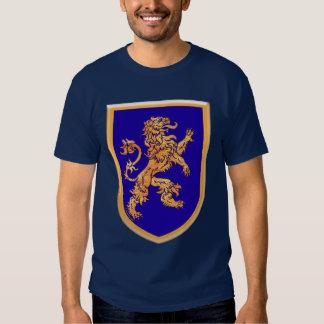 Lion on Blue Shield Shirts