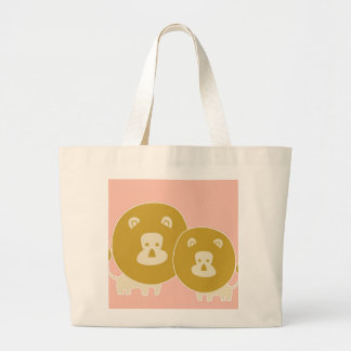 Lion on plain Pink background Tote Bags