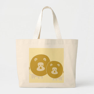 Lion on plain yellow background. tote bag