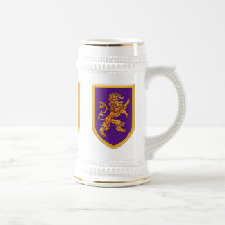 Lion on Purple Shield Mugs
