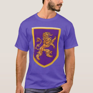Lion on Purple Shield T-Shirt