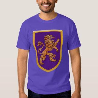 Lion on Purple Shield Tee Shirts