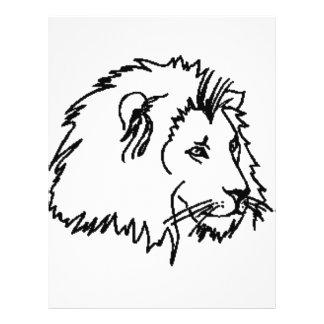 Lion Outline 21.5 Cm X 28 Cm Flyer