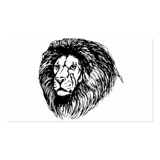 Lion Pack Of Standard Business Cards