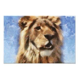 Lion painting photo