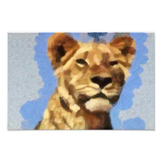 Lion painting photo print
