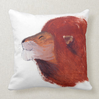 LION PAINTING PILLOW THROW CUSHIONS
