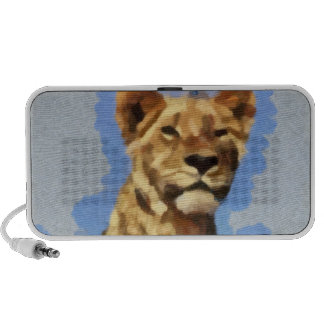 Lion painting travelling speakers