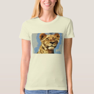 Lion painting t shirts