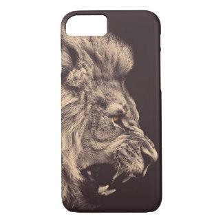 lion pencil art lion roar black and white iPhone 8/7 case
