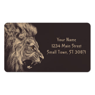lion pencil art lion roar black and white pack of standard business cards