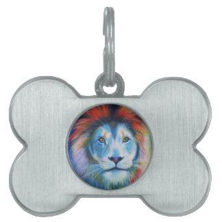 Lion Pet Name Tag
