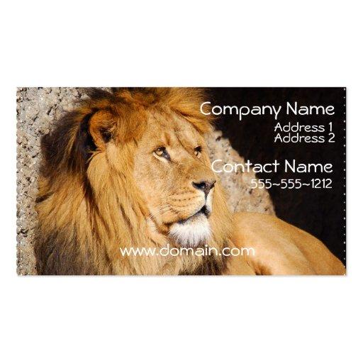 Lion Photo Business Card