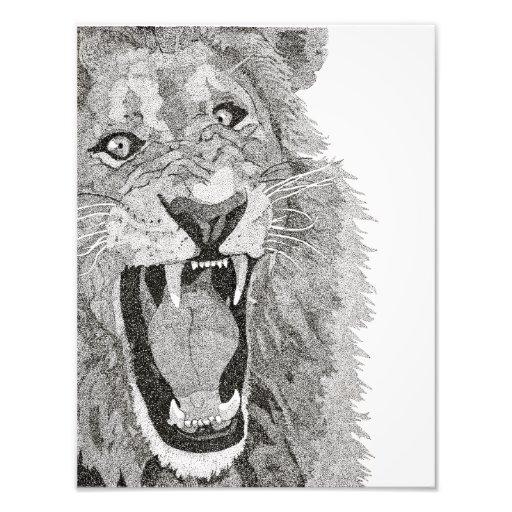 lion photo art