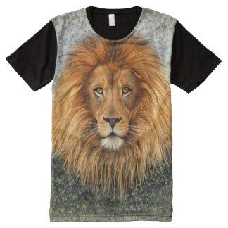 Lion Photograph Paint Art image All-Over Print T-Shirt