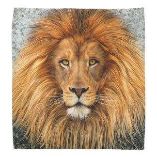 Lion Photograph Paint Art image Bandanna