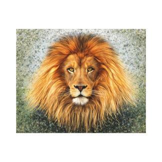 Lion Photograph Paint Art image Canvas Print