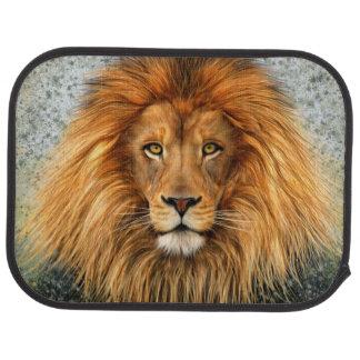 Lion Photograph Paint Art image Car Mat