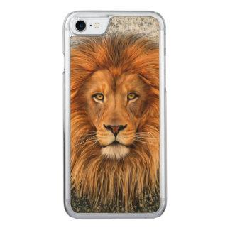 Lion Photograph Paint Art image Carved iPhone 8/7 Case