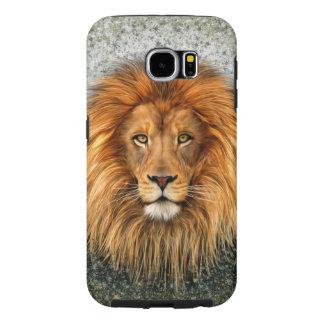Lion Photograph Paint Art image Samsung Galaxy S6 Cases