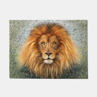 Lion Photograph Paint Art image Doormat