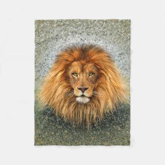 Lion Photograph Paint Art image Fleece Blanket