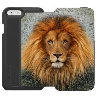 Lion Photograph Paint Art image Incipio Watson™ iPhone 6 Wallet Case