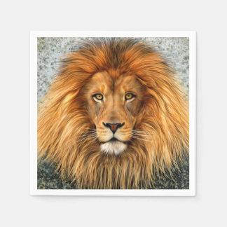 Lion Photograph Paint Art image Disposable Napkins