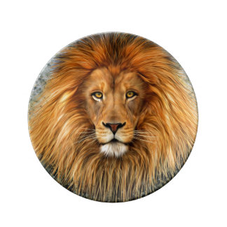 Lion Photograph Paint Art image Plate