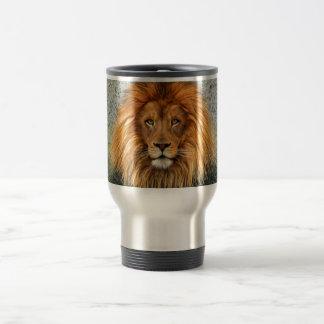 Lion Photograph Paint Art image Stainless Steel Travel Mug