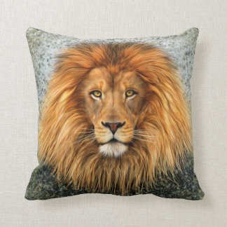 Lion Photograph Paint Art image Throw Cushions