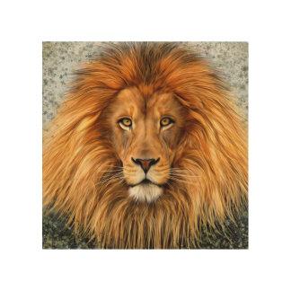 Lion Photograph Paint Art image Wood Canvases