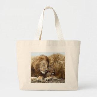 lion pic tote bag