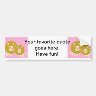 Lion - Pink Car Bumper Sticker