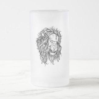 Lion-pirat Frosted Glass Beer Mug