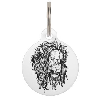 Lion-pirate Pet Tag