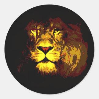 Lion Pop Art Sticker