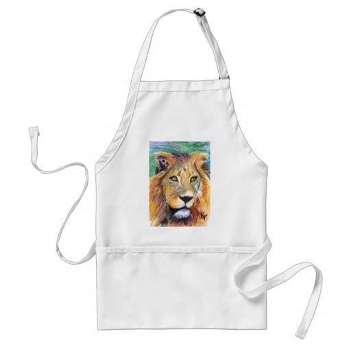 Lion Portrait ACEO Apron