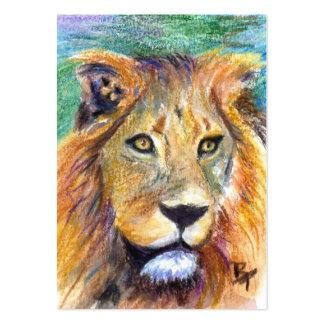 Lion Portrait ACEO Artcard Business Cards