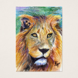 Lion Portrait ACEO Artcard Business Card