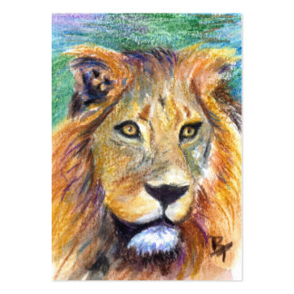 Lion Portrait ACEO ArtCard Pack Of Chubby Business Cards
