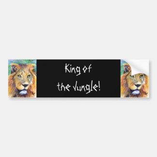 Lion Portrait ACEO Bumper Sticker