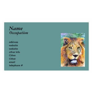 Lion Portrait aceo Business Cards