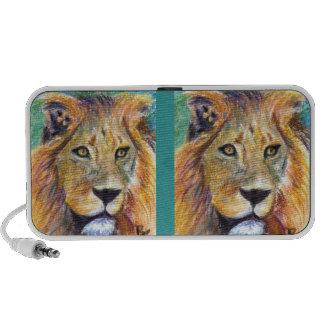 Lion Portrait aceo Doodle Speaker