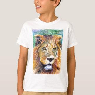Lion Portrait ACEO Kids Tshirt
