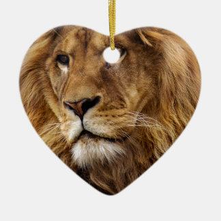 Lion portrait christmas ornament