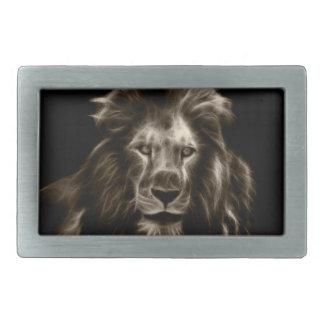 Lion Portrait Rectangular Belt Buckles