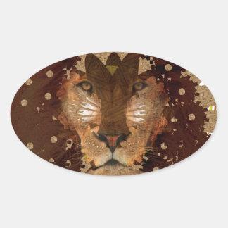 lion pride oval sticker
