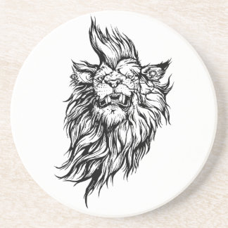 Lion-punk Drink Coaster